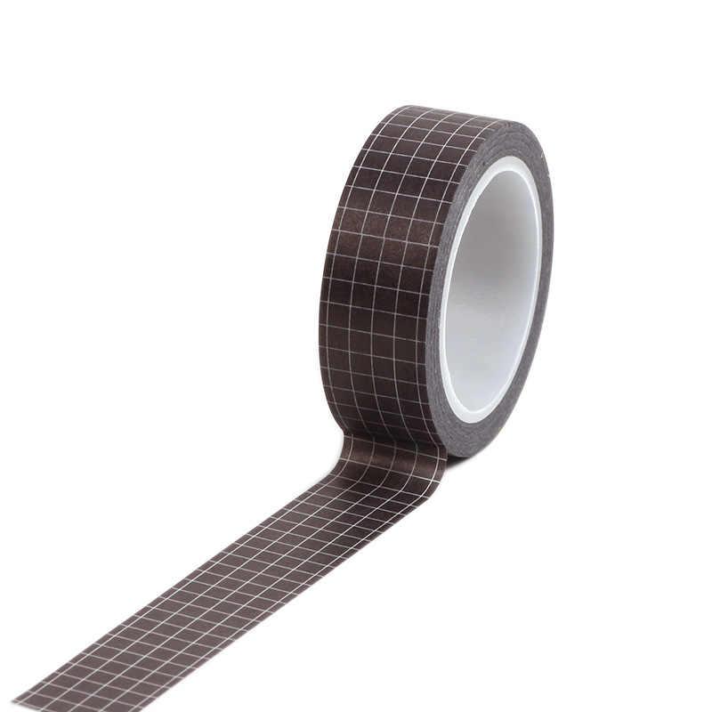 1 piezas en blanco y negro de cinta de Washi japonés papel DIY planificador cinta de enmascarar cintas adhesivas pegatinas decorativas y cintas