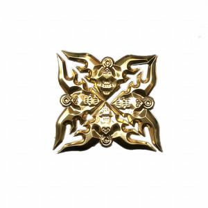 Image 2 - 4Pc einzigartige 304 metall handwerk ecke applique rahmen wand tür möbel edelstahl dekoration fledermaus blume