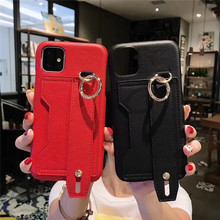 Tikitaka With Wrist Strap Card Slot Leather Case For iPhone1