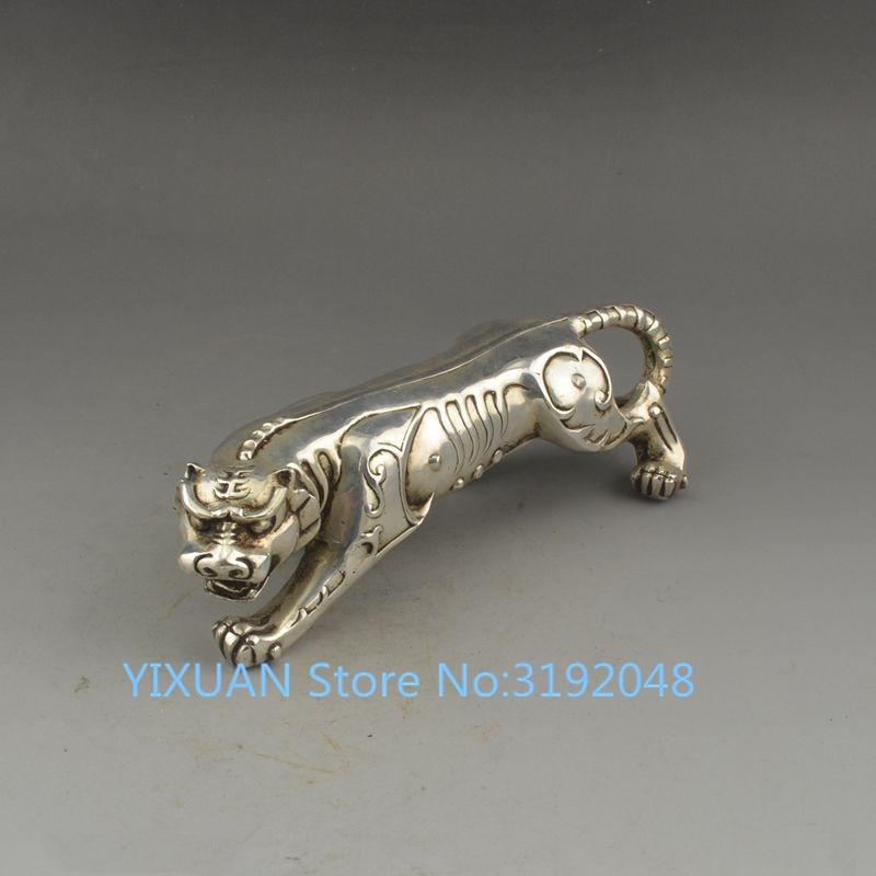Latón antiguo cobre baishouzhiwang tigre cobre artesanías muebles para el hogar adornos extremos de Feng Shui.
