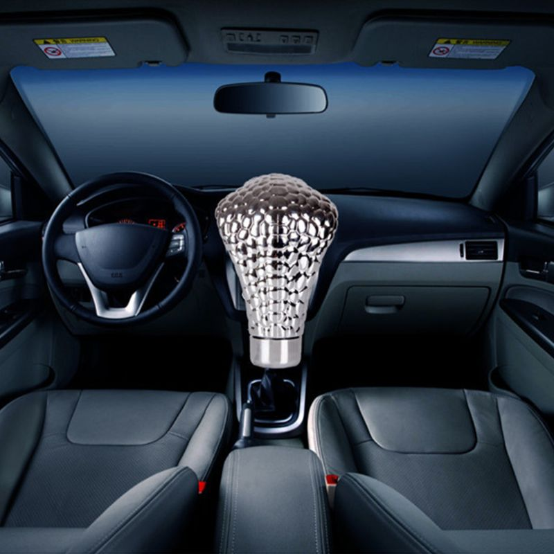 Alician Car LED Cobra Head Manual//Automatic Gear Stick Shift Knob Shifter Lever Novelty Tool Universal Use LED red