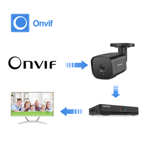 Image 5 - Techege 12V אודיו אבטחת IP המצלמה POE סופר HD 5MP ONVIF חיצוני עמיד למים טלוויזיה במעגל סגור מצלמה מעקב וידאו בית עבור POE NVR