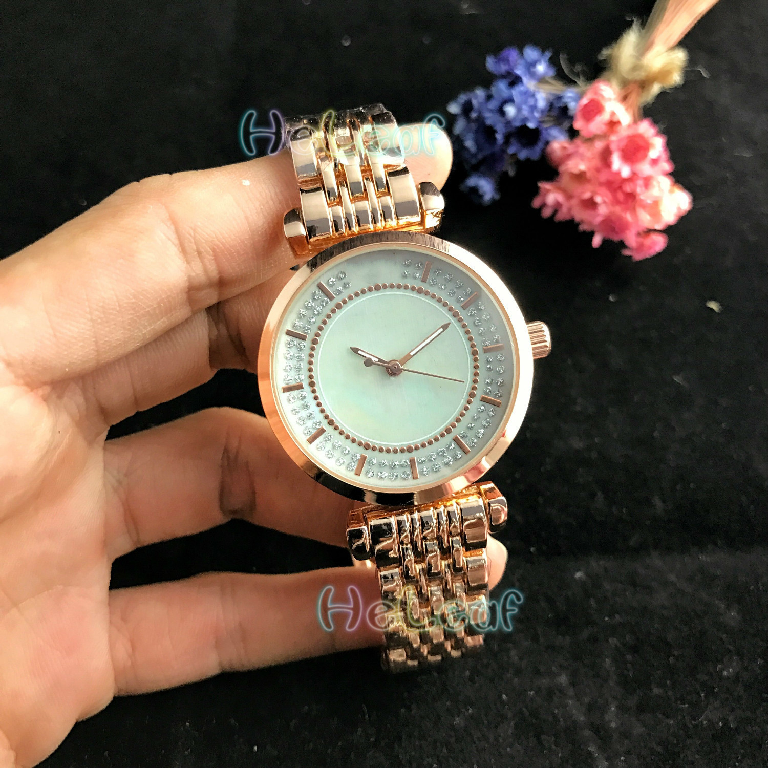 Luxury Fashion Women Watches Silver Gold Round Stainless Steel Band Quartz Watch MANI Female Clock Montre Femme Relogio Feminino