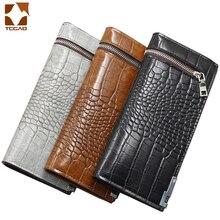 leather wallet alligator long zipper clutch luxury Retro mon