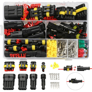 цена на 240pcs/Box Waterproof Wire Connector 1-6Pin Car Electrical Wire Connectors Plug Car Auto Wire Cable Terminals Assortment Kits