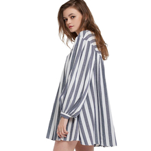 Pregnancy Dress for Women Plus Size Dress Women Round Neck Striped Loose Long Sleeve Dress Female Boho Style Maternity Clothes simple style sleevelessu neck loose fitting black dress for women