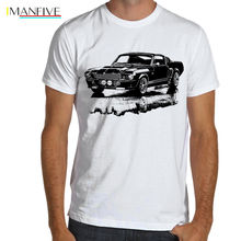 2019 Summer Style Men Tee Shirt American Muscle Car Mustang Boss GT500 E 1967 Eleanor SOFT Cotton T-Shirt S-XXXL Multi Colors printio ford mustang shelby gt500 eleanor 1967