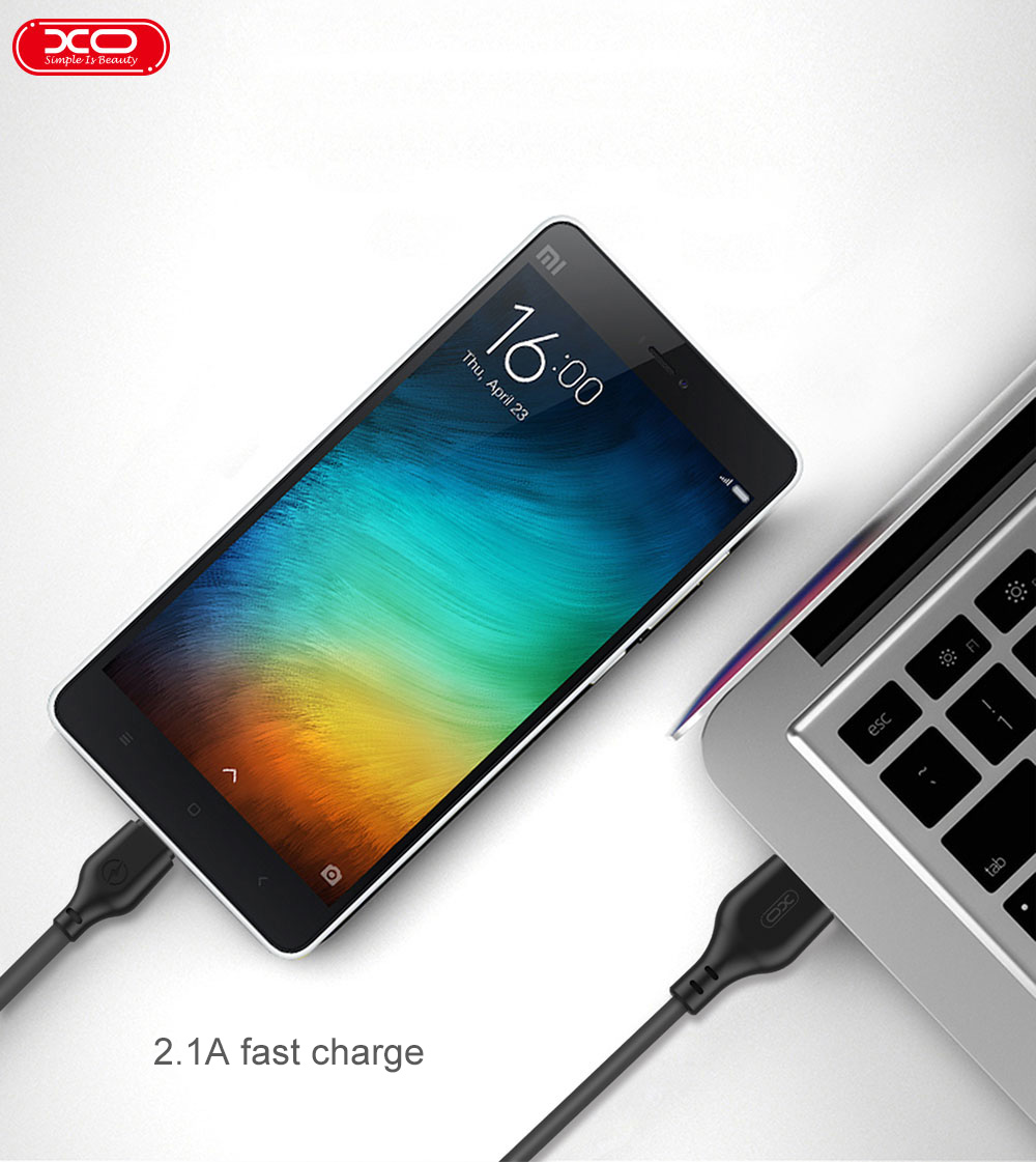 XO Fast Charge USB micro type C Cable For iphone cable quick charging 1m 2m length for Lightning usb charging cable hot sell in Mobile Phone Cables from Cellphones Telecommunications