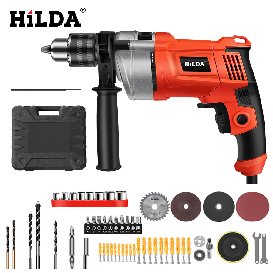 HILDA Impact Drill Electric Drill Rotary Hammer With BMC And 5pcs Accessories Impact Drill Power Drill Electric Drill