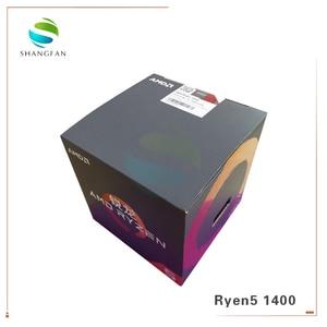 Image 2 - جديد AMD Ryzen 5 1400 R5 1400 3.2 GHz رباعية النواة معالج وحدة المعالجة المركزية YD1400BBM4KAE المقبس AM4 مع مروحة التبريد برودة