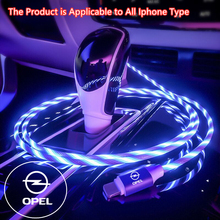 Iphone 11 12 pro Xs Xr X 8 7 자동차 전화 고속 충전 케이블 Opel astra j h g insignia mokka corsa d vectra 용 LED 케이블