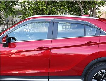 Para Mitsubishi Eclipse Cross 2018 4 unids/set cubierta de estilo de carrocería de coche ventana de plástico Visor de viento lluvia/protector de sol para ventilación cubiertas de coche
