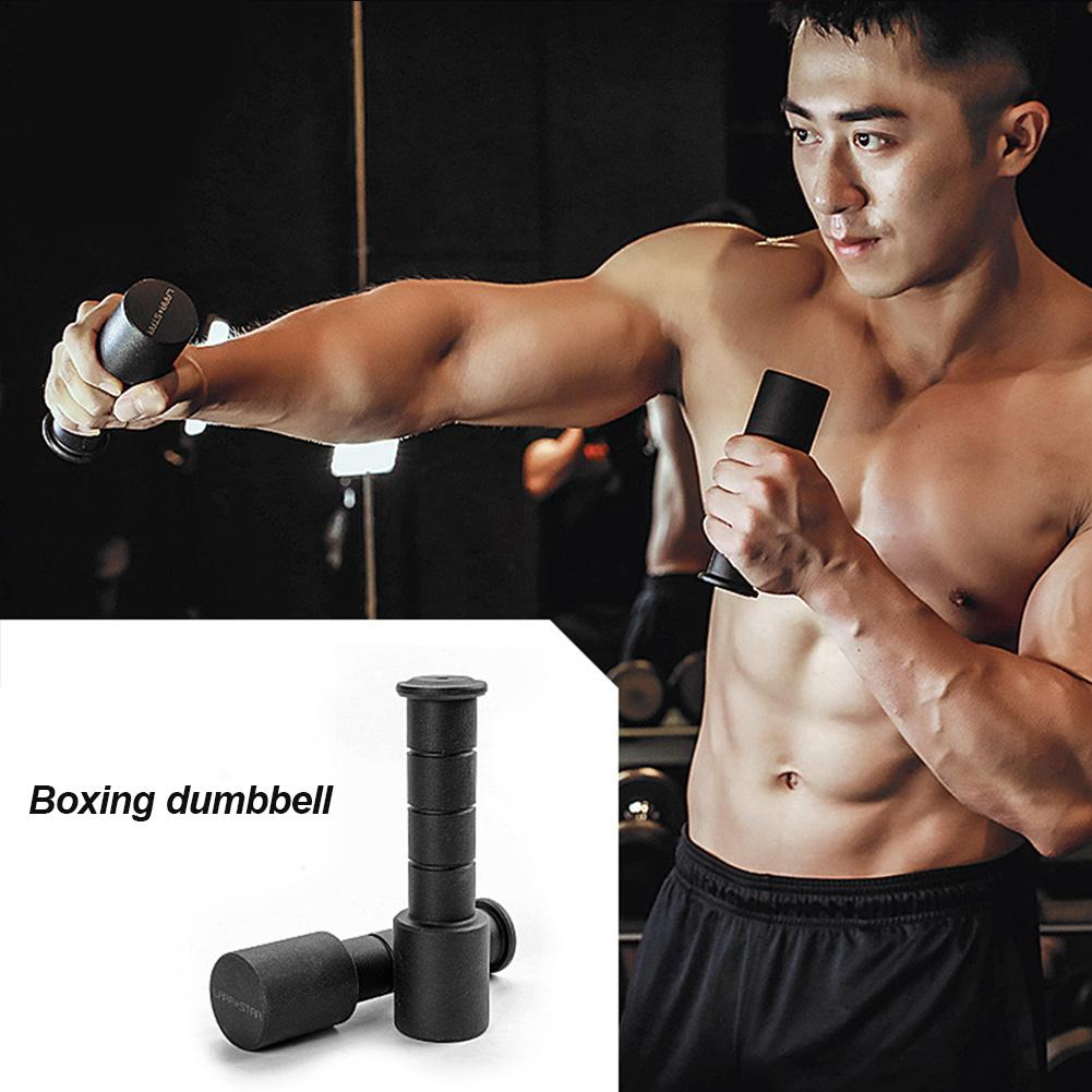1pair Portable Steel Boxing Dumbbells Anti-slip Durable Portable Hand Weights Fitness Equipment Air Bell Combat Point Training