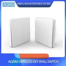 オリジナルシャオ mi Aqara スマートスイッチ光リモコン ZiGBee 無線 lan ワイヤレスキー壁スイッチで動作 mi 嘉 mi ホームアプリ