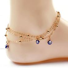 Новый тренд синий сглаза браслет для Для женщин Многослойные