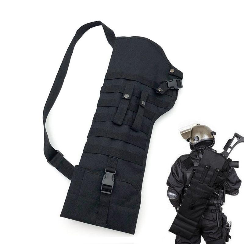 Tactical Rifle Shotgun Scabbard Holster Military Army Gun Bags Assault Shotgun Rifle Long Gun Knife Hunting Bag Army Pouch Case