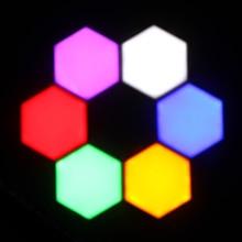Красочные Quantum лампы СИД модульный сенсорный светильник ing шестиугольная лампы ночной Светильник Магнитный креативное украшение стены lampara
