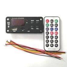 ไร้สายบลูทูธ 5.0 ถอดรหัสคณะกรรมการโมดูลเสียง USB TF AUX FM วิทยุเสียงโมดูลสเตอริโอเครื่องขยายเสียง