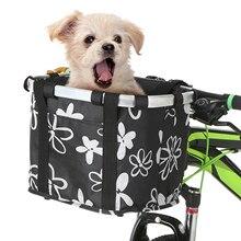 Bike-Basket Handbag Dog-Carrier-Bag Front-Bag Cycling Folding Small Cat Pet Detachable