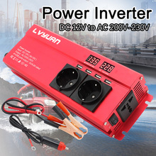 6000W Auto Omvormer Dc 12V Naar Ac 220V Power Inverter Charger Adapter Inversor Transformator Converter Auto accessoires