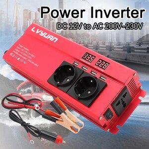 6000W Car Inverter DC 12V To AC 220V Power Inverter Charger Adapter Inversor Voltage Transformer Converter Auto Accessories