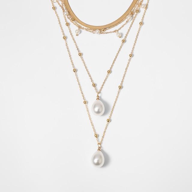 Bohemian Multi Layer Imitation Pearl Necklace 4
