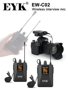 EYK Microphone-System Dslr-Camera Video-Recording Interview Lavalier-Lapel Uhf Wireless