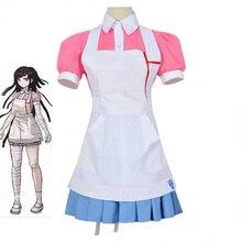Dangan Ronpa 2 Danganronpa Mikan Tsumiki Vestito Cosplay Costume Set per le donne ragazze