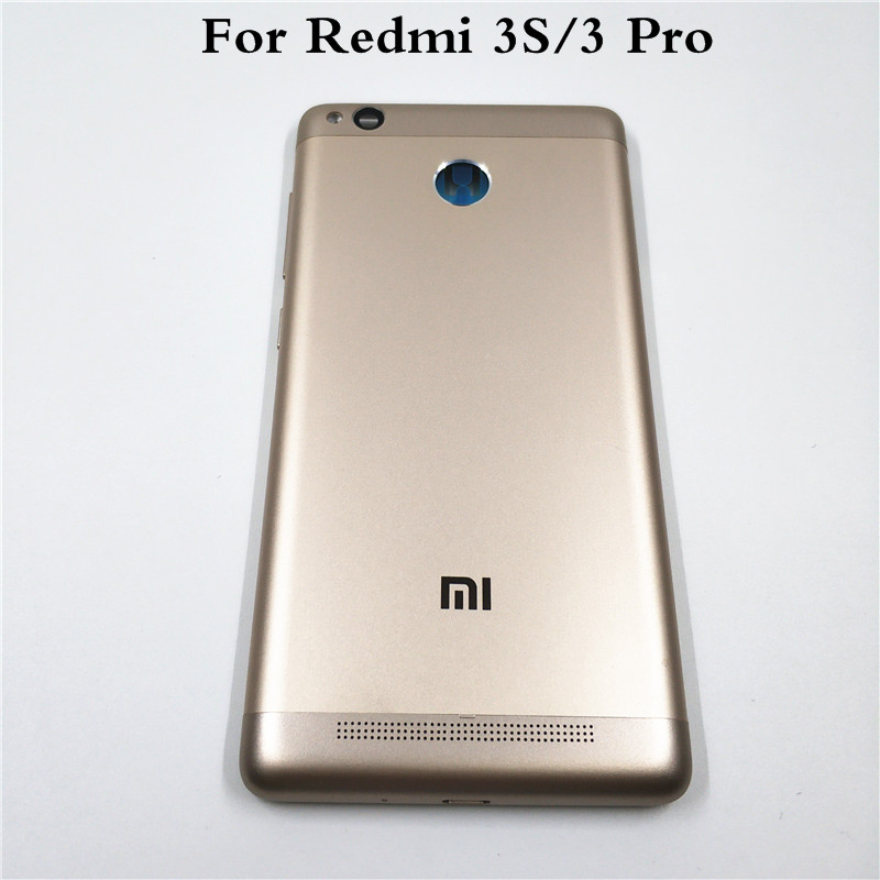 Original For Xiaomi <font><b>Redmi</b></font> <font><b>3S</b></font> / <font><b>Redmi</b></font> 3 Pro Metal <font><b>Battery</b></font> Door <font><b>Cover</b></font> Housing Back <font><b>Cover</b></font> With Side Buttons + Camera lens image