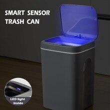 16L Intelligent Trash Can Kitchen Automatic Sensor Dustbin Smart Sensor Electric Waste Bin Home Garbage Bin For Bathroom Garbage