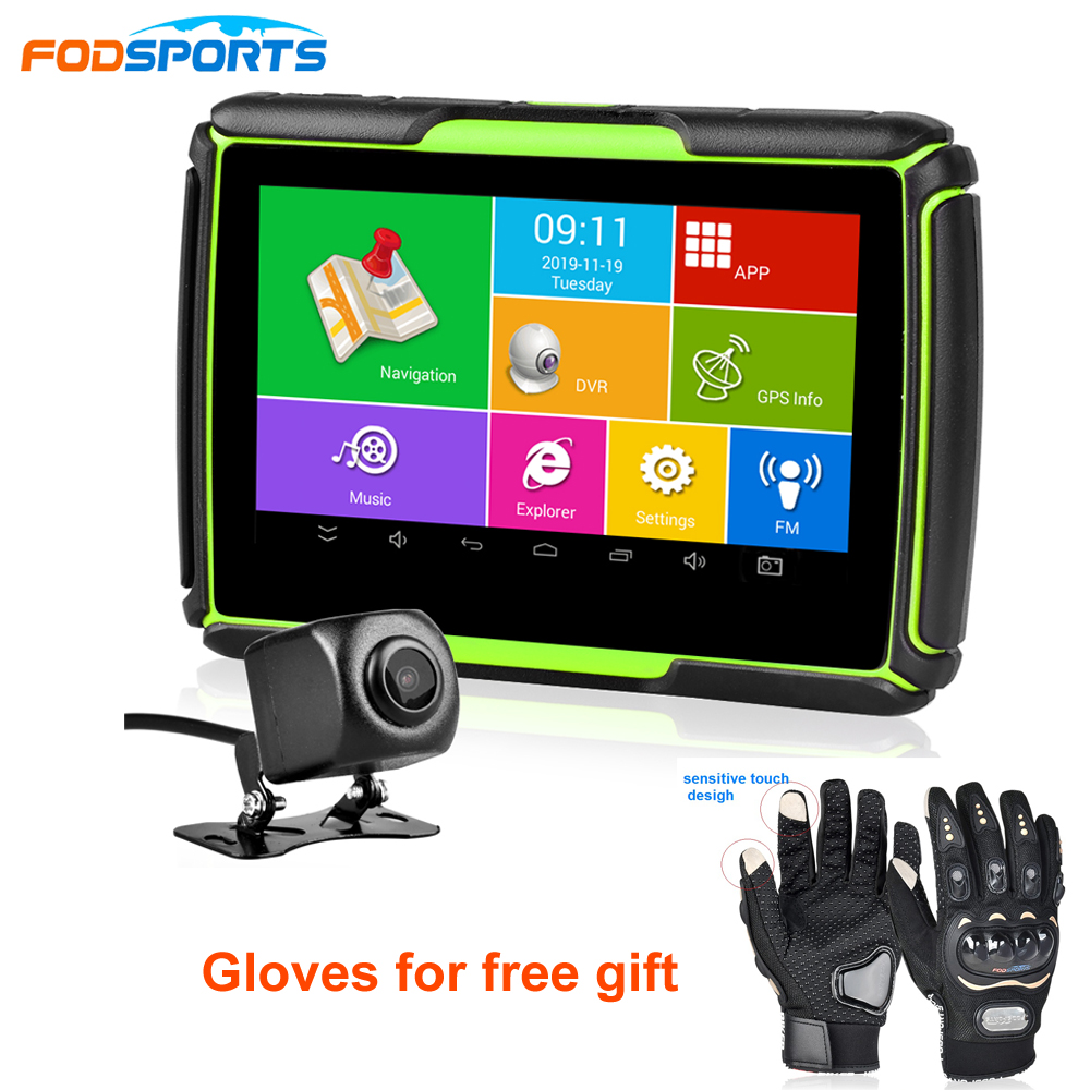 Newest Fodsports GPS Moto Navigator 4.3 Inch With DVR IPX7 Waterproof Android System WIFI Bluetooth Motorcycle GPS Navigation