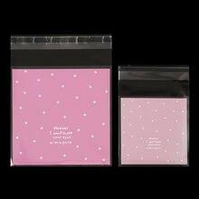 100 pces rosa verde skyblue dot auto-adesivo sacos de plástico biscoito doces embalagem saco festa de casamento natal decoração suprimentos