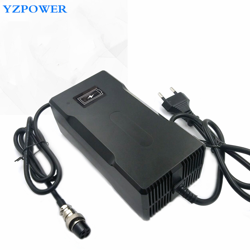 YZPOWER DC 116V 2A Intelligent Lithium Battery Charger for 27S 96V LI-ion Lipo Battery Pack