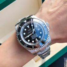 DEEPSEA SEA-DWELLER Men's Luxury Brand Automatic Winding Mechanical Watch Stainless Steel/rubber Strap Micro-adjustment Buckle