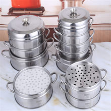 Aço inoxidável steamer peixe cozido no vapor cremalheira de pão multifuncional ferramentas de cozinha multicamadas steamer rack inserção com suporte