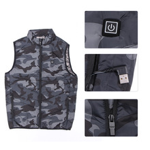 Coat Vest Heated-Jackets Thermal-Warmer Electric-Heating USB Winter Hooded Down Outdoor