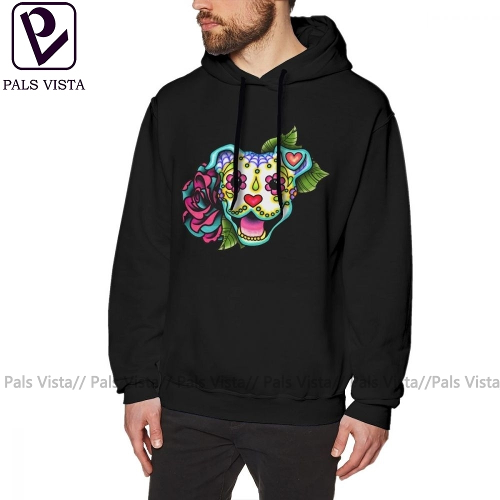 Sugar Skull Mens Pullover Hoodie Sweatshirt with Pockets