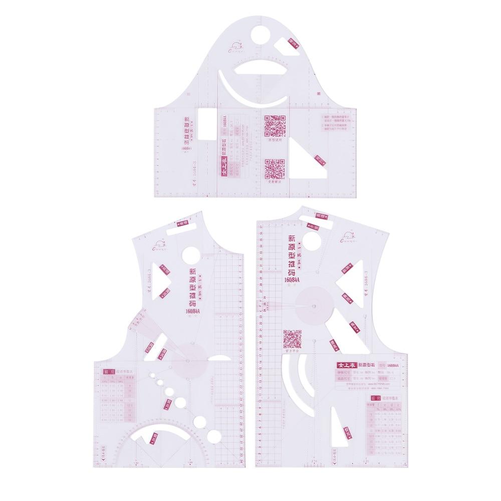 1:3 модная линейка для дизайна в блокноте маленькая модная ткань с рисунком; Портной швейный узор инструменты для куклы
