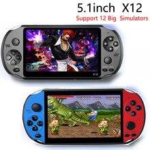 X12 Console de jeu Portable 8G 32/64/128 Bit HD couleur écran LCD 3000 + jeux enfant vidéo rétro Portable lecteur de jeu Portable à la télévision