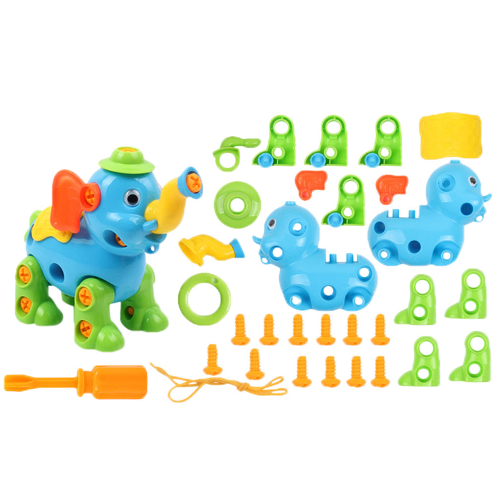 Permalink to Learning Education Toys Fun Learning Toys For Children DIY Screw Nut Installed 3D Puzzle Animal Disassembly Kids Toys Y1021