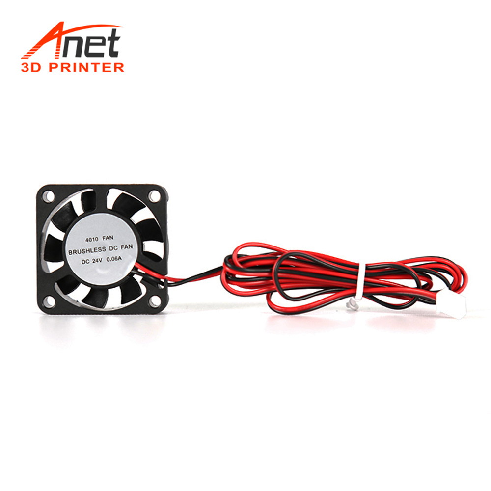 <font><b>4010</b></font> <font><b>Brushless</b></font> DC Cooling Fan Heat Dissipation with Oil Bearing Shaft 6000RPM Cable 110cm for Anet A8 Plus CR 10 Ender 3 image