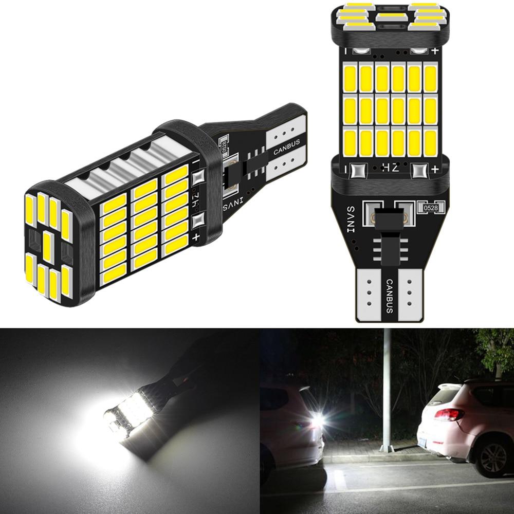 2pcs Canbus Error Free T15 W16W LED Bulbs Car Backup Reverse Light For BMW E60 E90 E91 Ford Fiesta Fusion Focus Mazda 3 5 6 CX-5