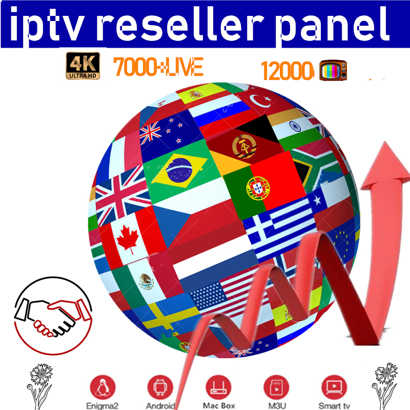 IPTV Reseller Panel With Credits 700+Live Adult IPTV Resellers For German France Greece UK Europe Turkey Latino IPTV M3u Android