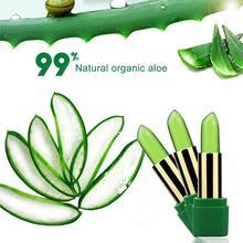 Pure Natural 99% Aloe Vera Gel Temperature Change Lip Balim Lipstick Anti-drying Lasting Moisturizing Make Up Cosmetic TSLM1