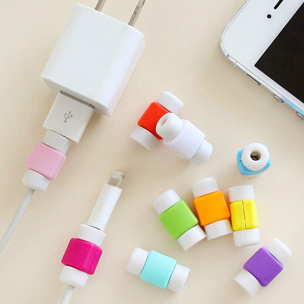 Nouveau bonbon Unique pur colorfulB données câble protecteur mode silicone câble enrouleur ligne couverture pour iPhone beau décor