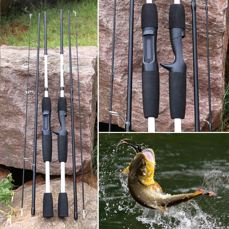Sougayilang 3 Sections carbone canne à pêche leurre Wt: 7-28g M puissance filature/coulée canne à pêche canne de voyage matériel de pêche Pesca