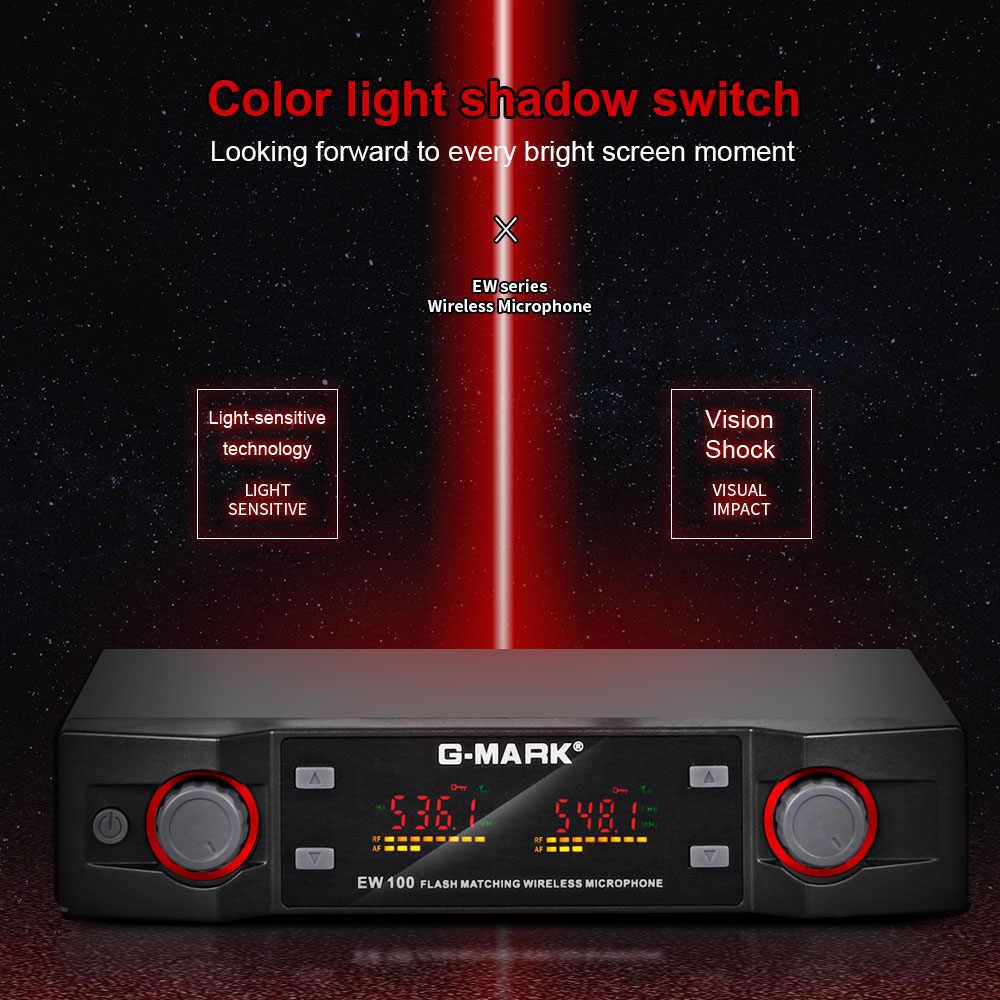 G-MARK EW100 ワイヤレスマイクuhfカラオケマイクハンドヘルドマイクプロフェッショナル周波数調整可能な 80 メートル受信パーティー歌う