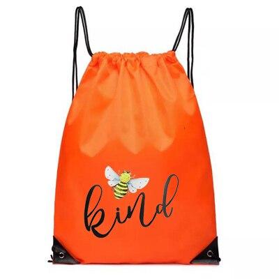 Draw String Bags Printed Womens Custom Logo Christmas Be Kind Bag Women Nylon Girls Red Pocket Skull