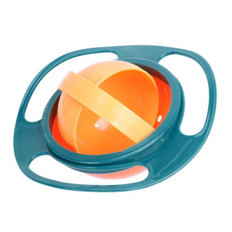 Креативная обучающая посуда для кормления ребенка, детская миска, миска для защиты от разлива, детская посуда для кормления, детская посуда для еды, Гироскопическая чаша для кормления - Цвет: A bowl