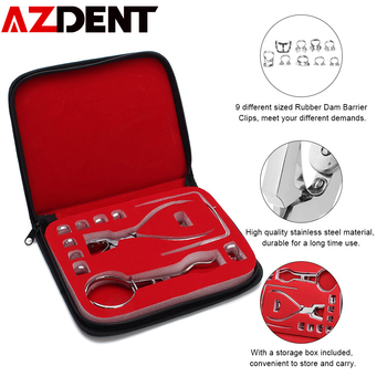 1 Set Dental Rubber Dam Perforator Puncher Teeth Care Pliers Orthodontic Material Dentist Lab Device Equipment With Storage Bag